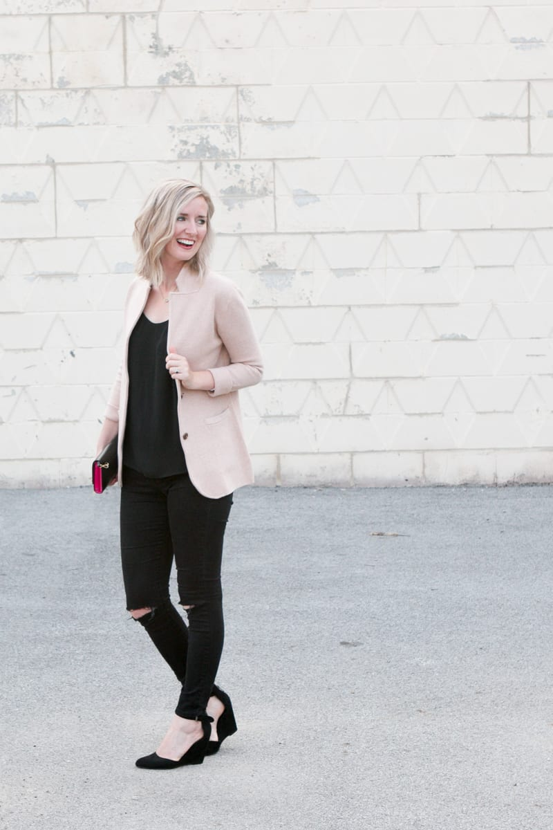 Date night look with fall blazer