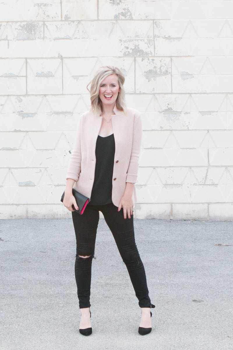 How to style a fall blazer for date night