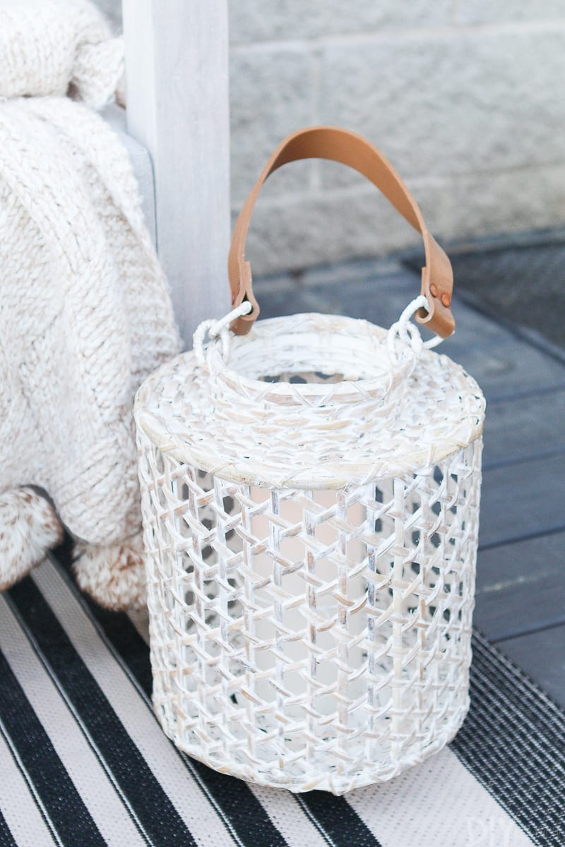 A rustic lantern from HomeGoods
