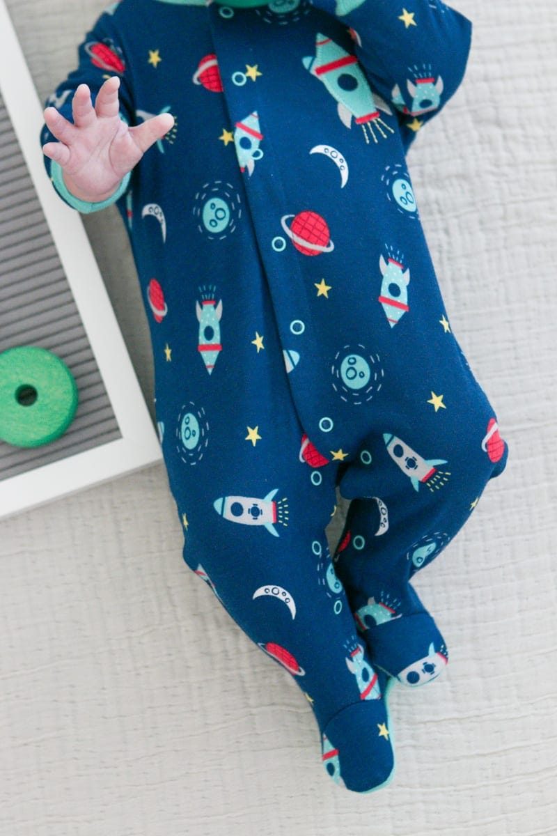 Ben in a onesie from Marshalls