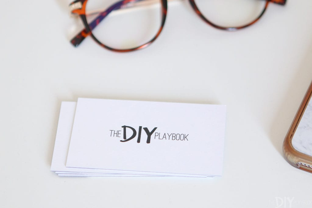 The DIY Playbook business cards