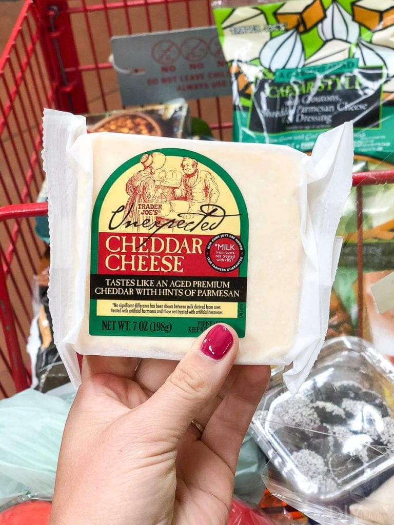 unexpected cheddar cheese from trader joe's