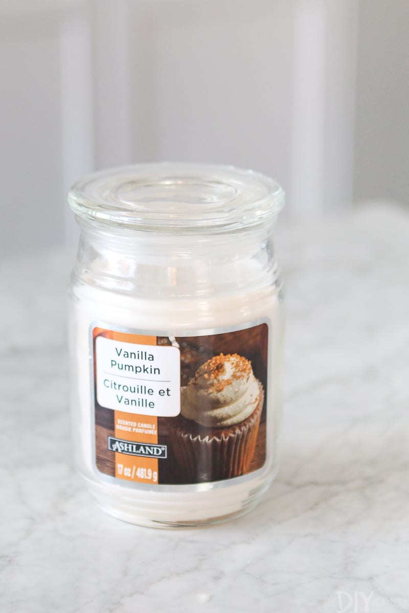 vanilla pumpkin candle from michaels