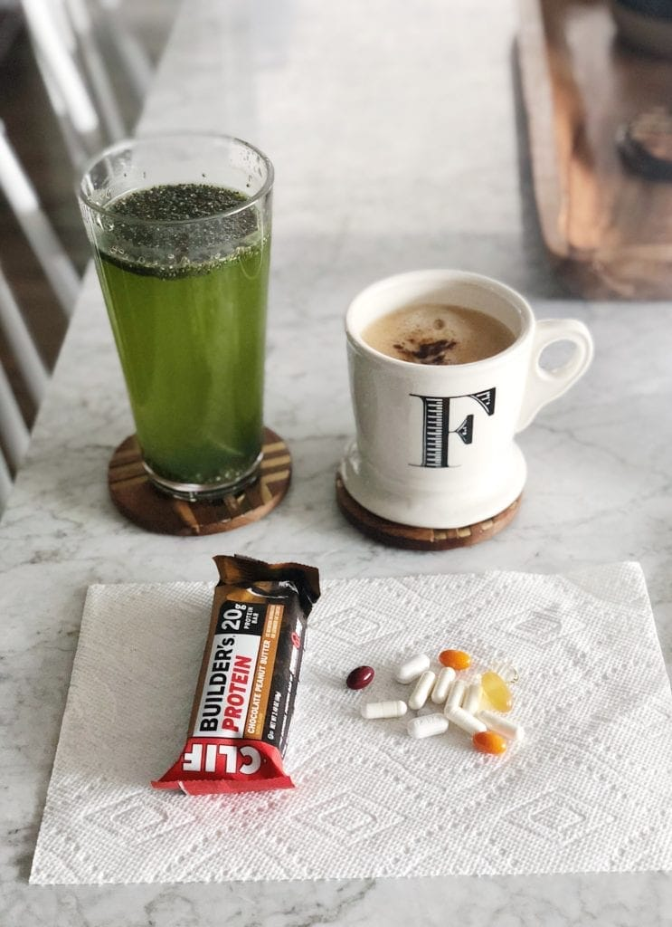 vitamins and coffee for breakfast