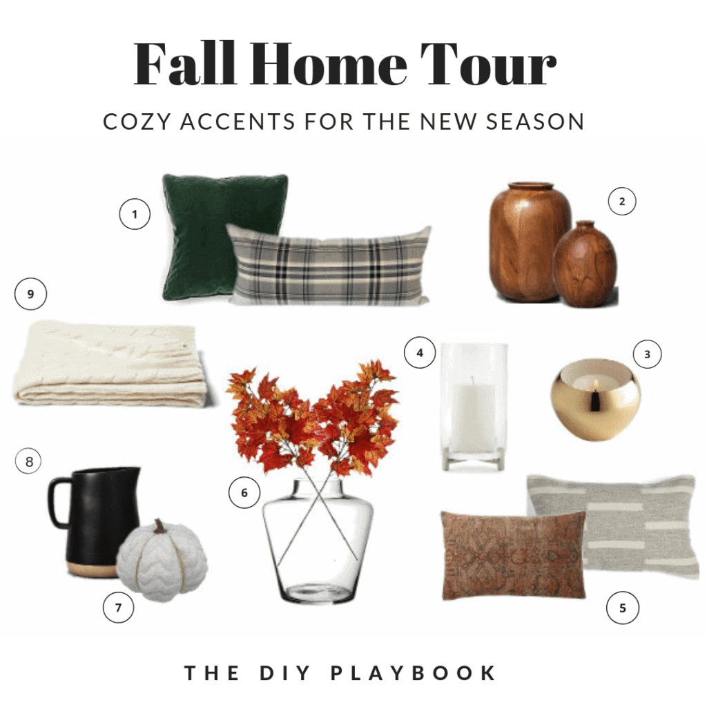 Fall home tour decor items