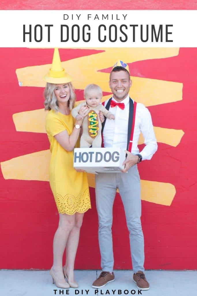 DIY Family Hot Dog Costume