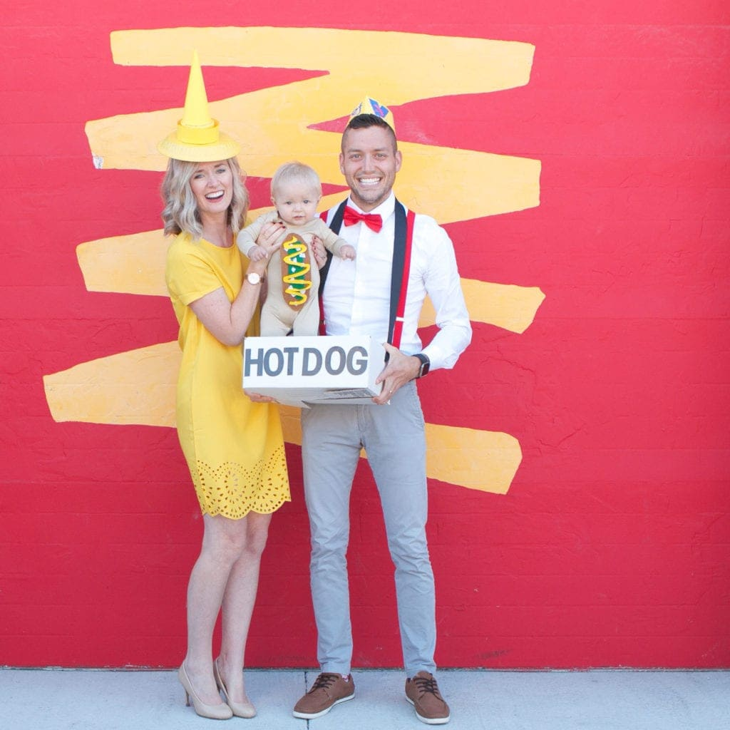 diy chicago hot dog halloween costume tutorial