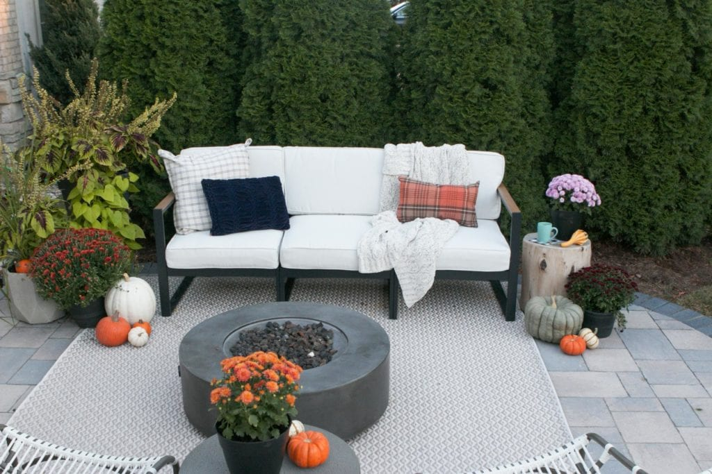 cozying up a patio fro the fall