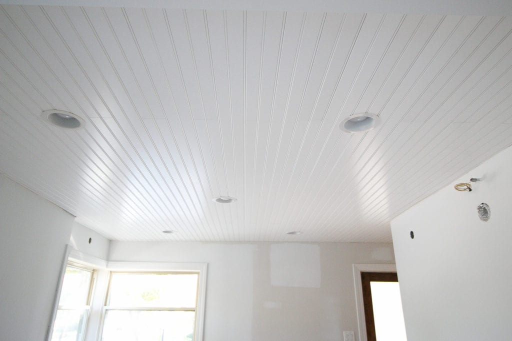 covering a plaster ceiling with beadboard planks from armstrong ceilings