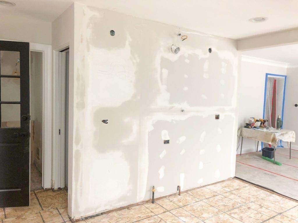 drywall progress