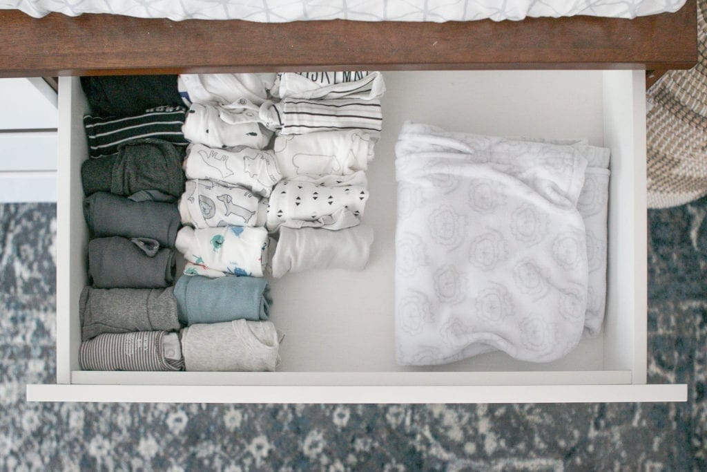 an organized baby drawer