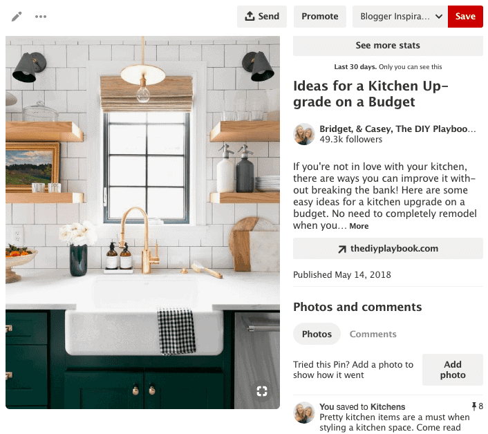 using ideas from pinterest boards in designing