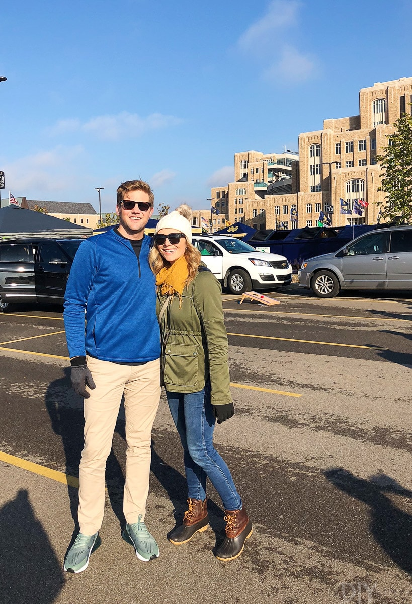 Casey and Finn at Notre Dame Game