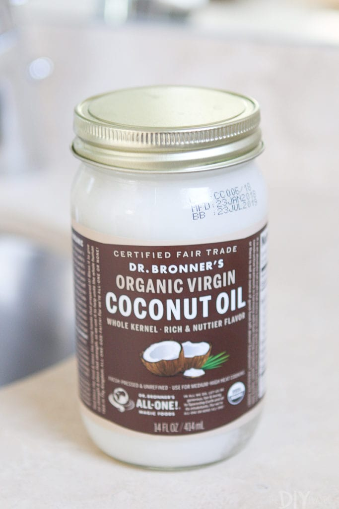 Using Dr. Bronner's organic virgin coconut oil as body lotion