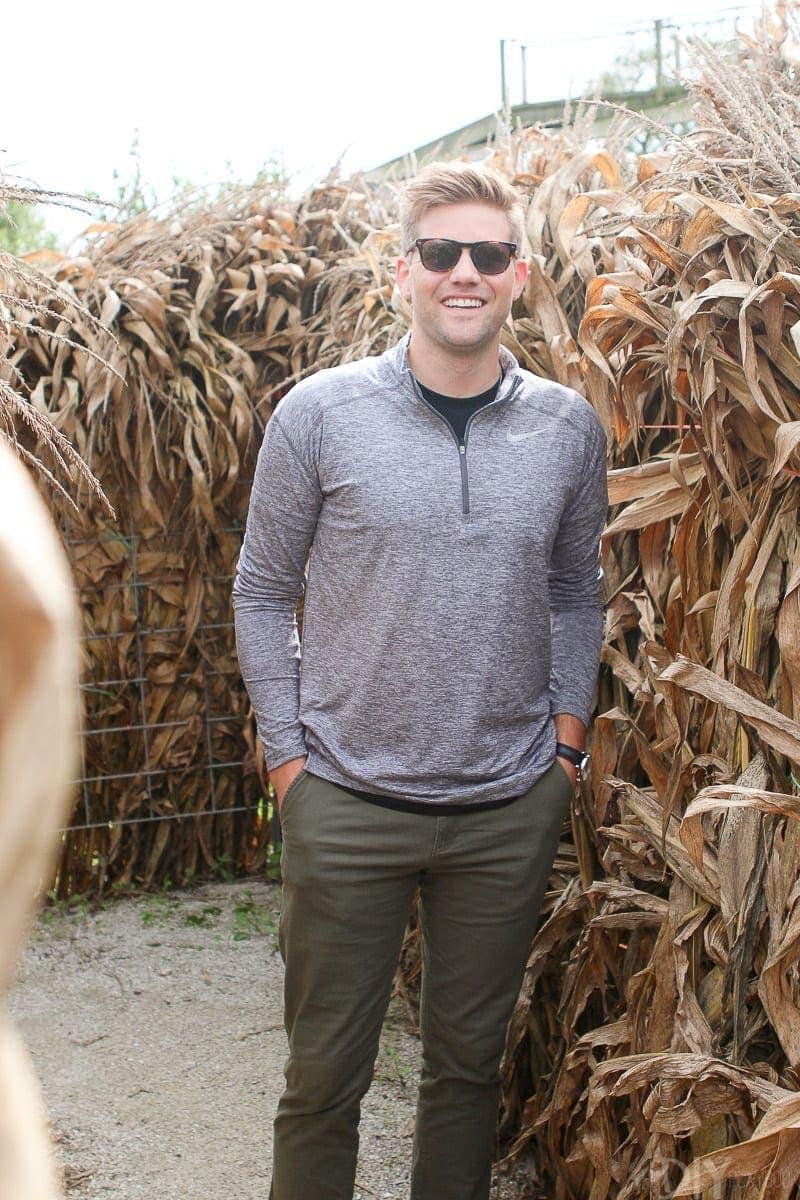 Finn in a corn maze