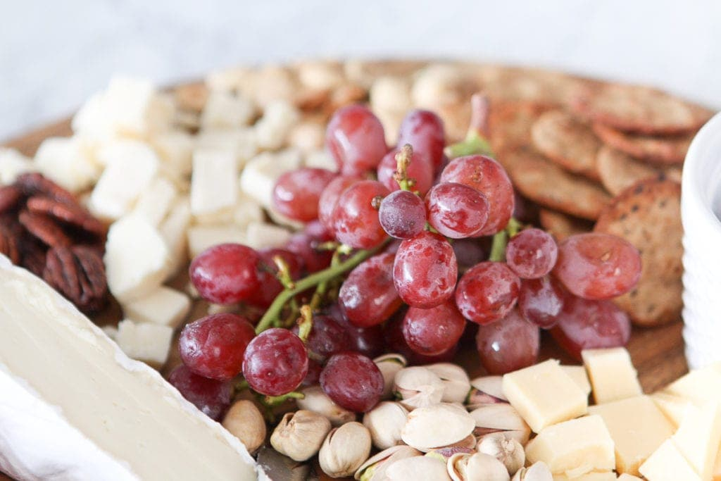 Add grapes to your charcuterie board
