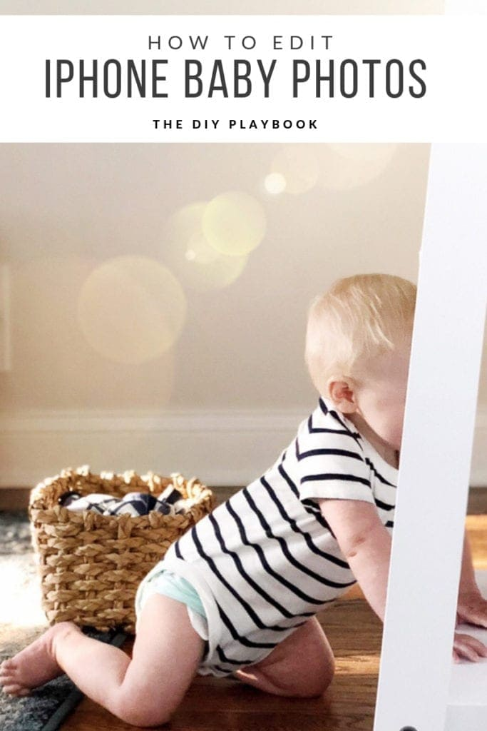 how to edit baby photos on your phone