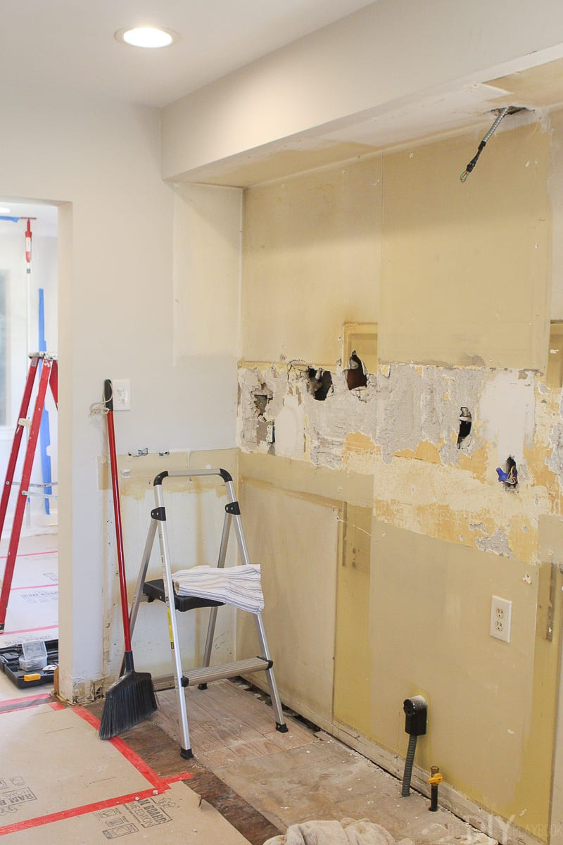 documenting the process of a kitchen demo