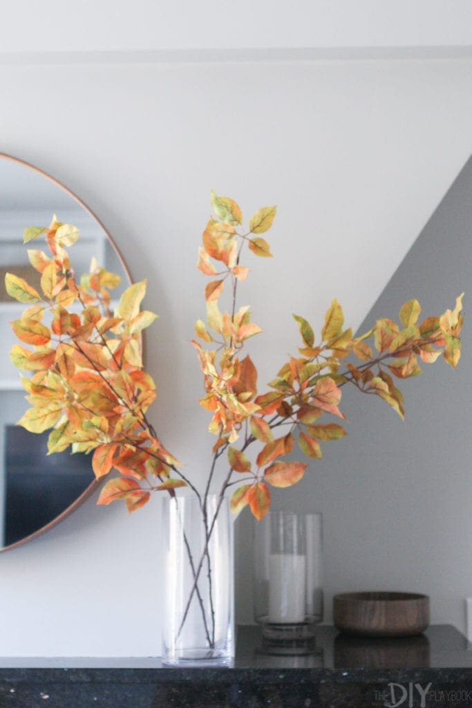 use fall branches to add some seasonal decor