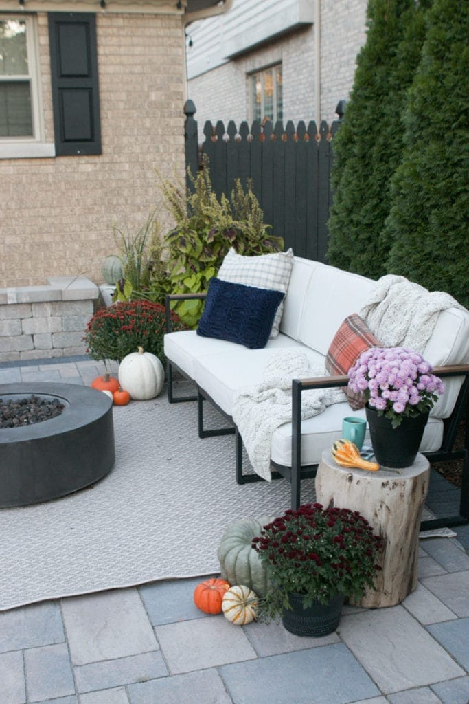 Our fall porch and patio setup