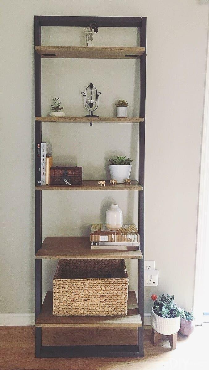 bookshelves before styling