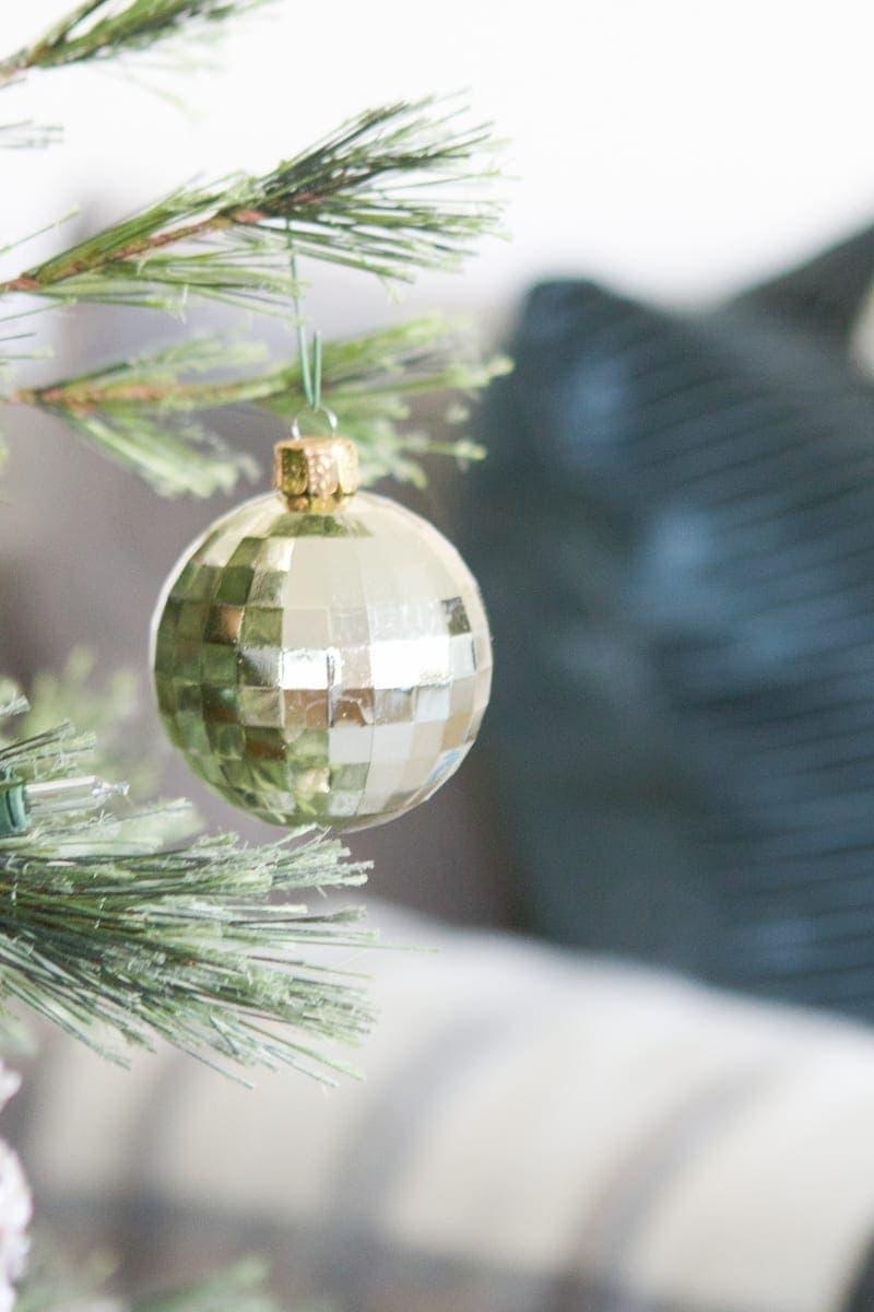 gold disco ball ornament