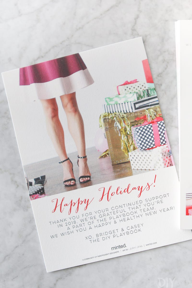 kate Spade inspired christmas card