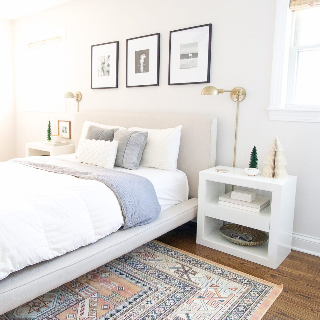 christmas bedroom tour with west elm