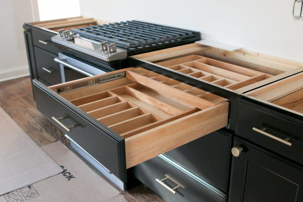 extra organization in kitchen drawers