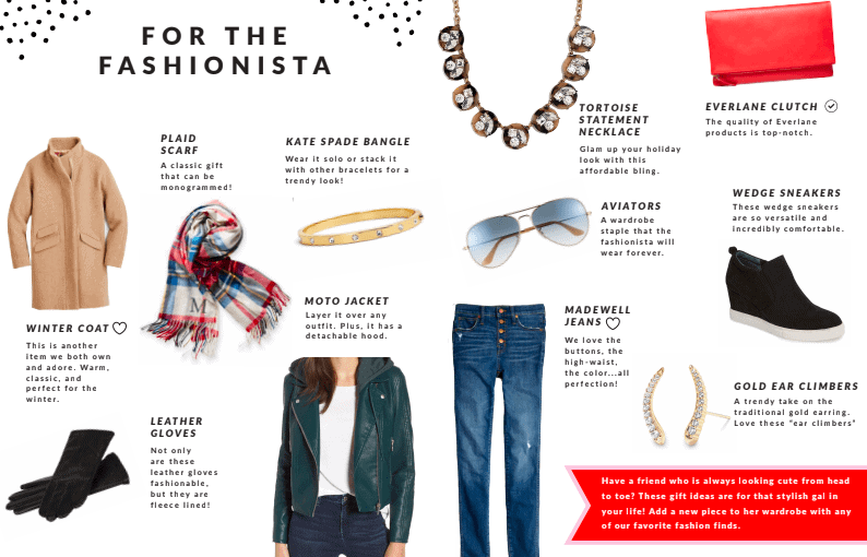 gift guide fashionista page