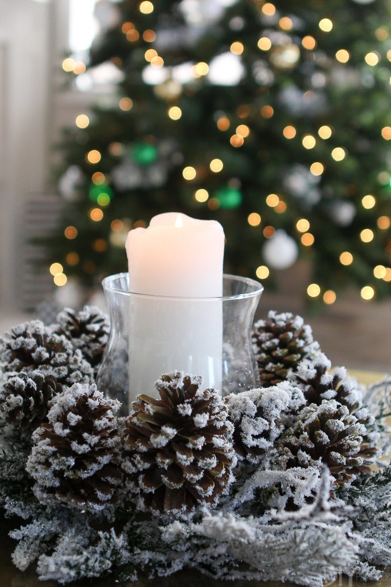 Christmas wreath and candle