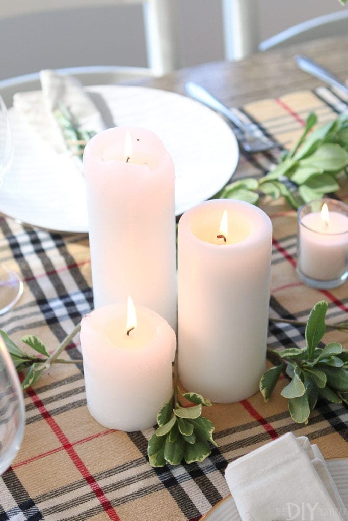 Use candles on your fall tablescape