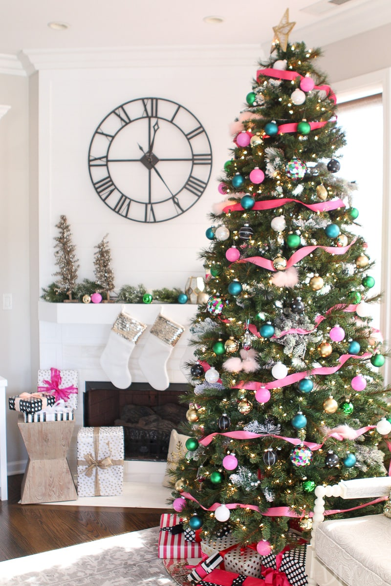 Girly and glam Christmas tree