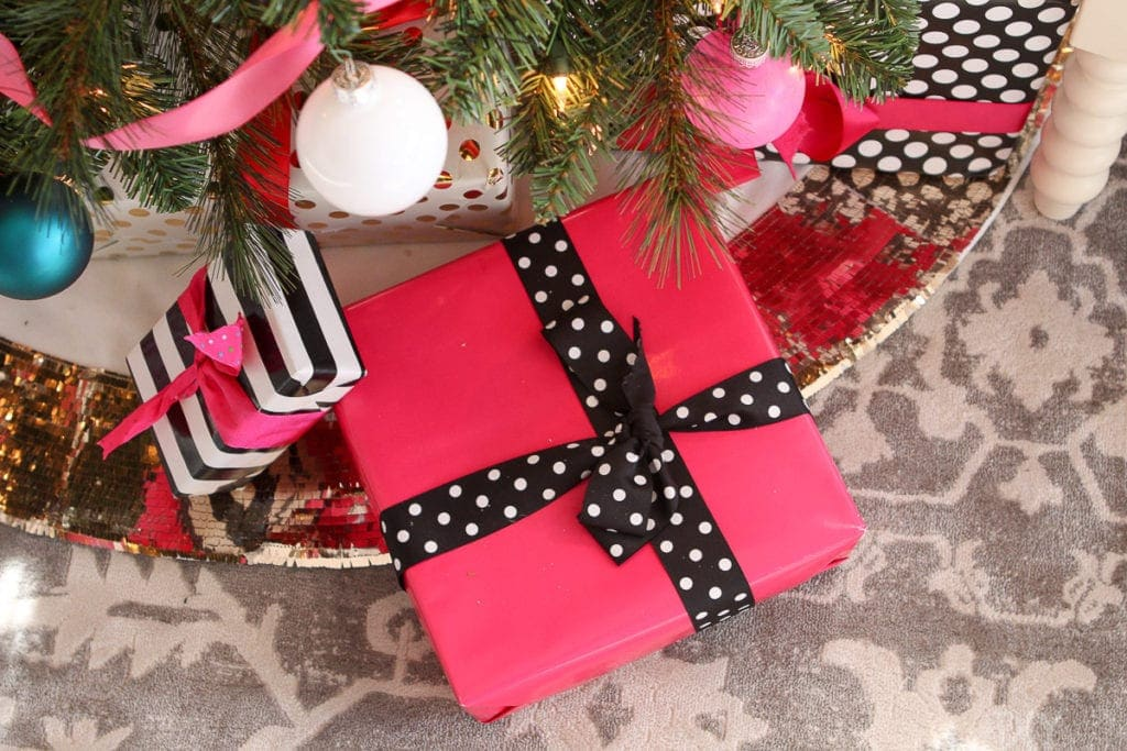 Hot pink gifts and packages