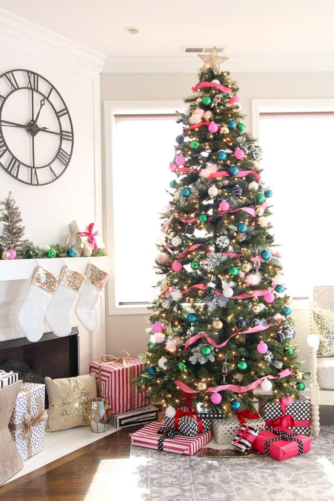 A coloforful kate Spade Inspired Christmas tree