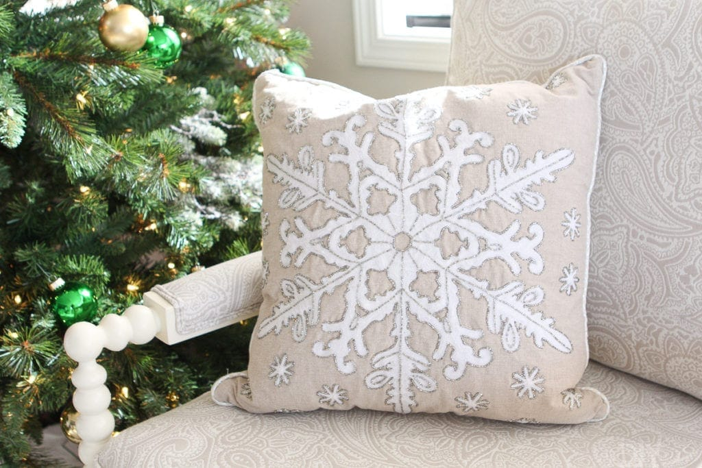 Snowflake pillow from Marshalls