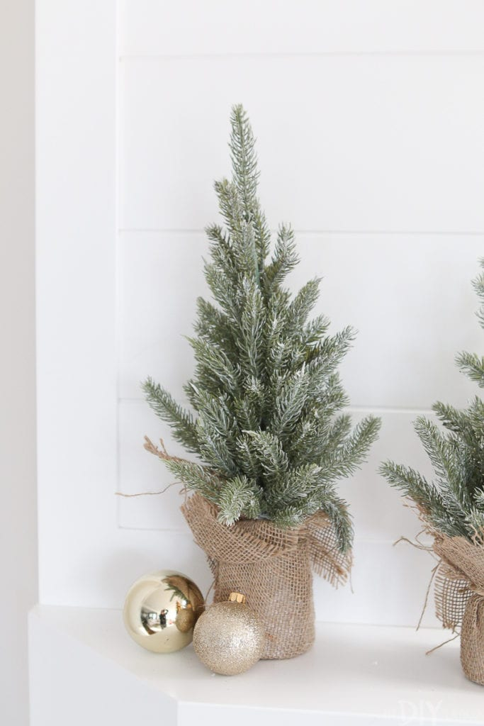 Faux tree to add greenery for the holidays