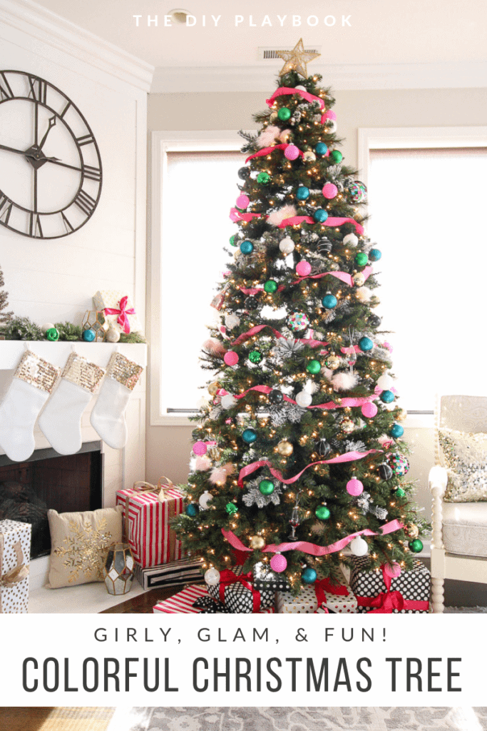 A colorful Christmas tree look for the holidays