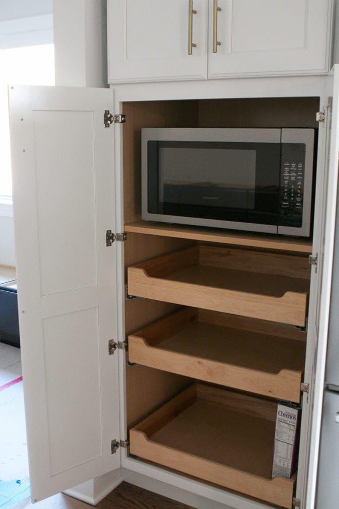 adding electrical in cabinets for hidden storage