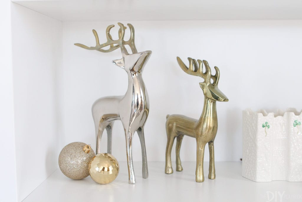 Metallic reindeers for Christmas