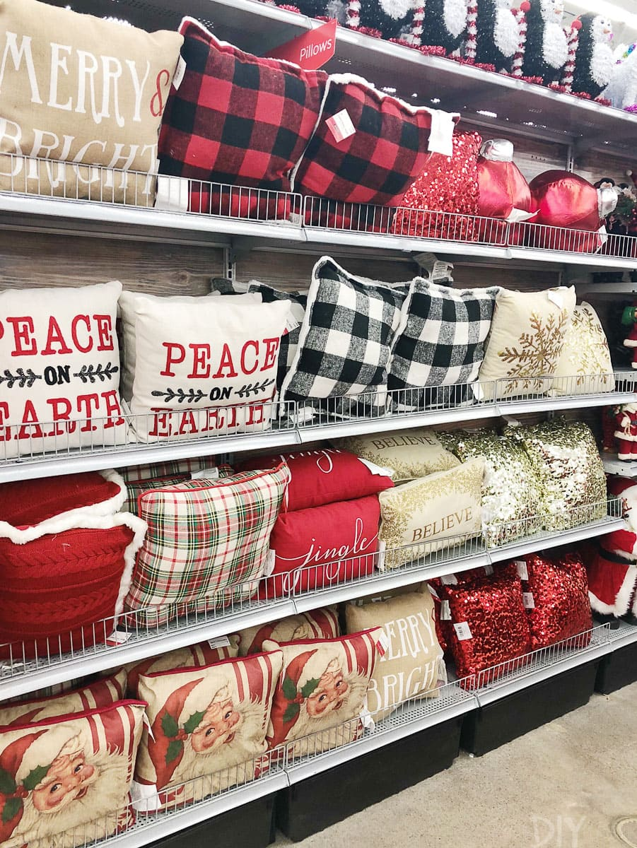Christmas pillows at Michaels