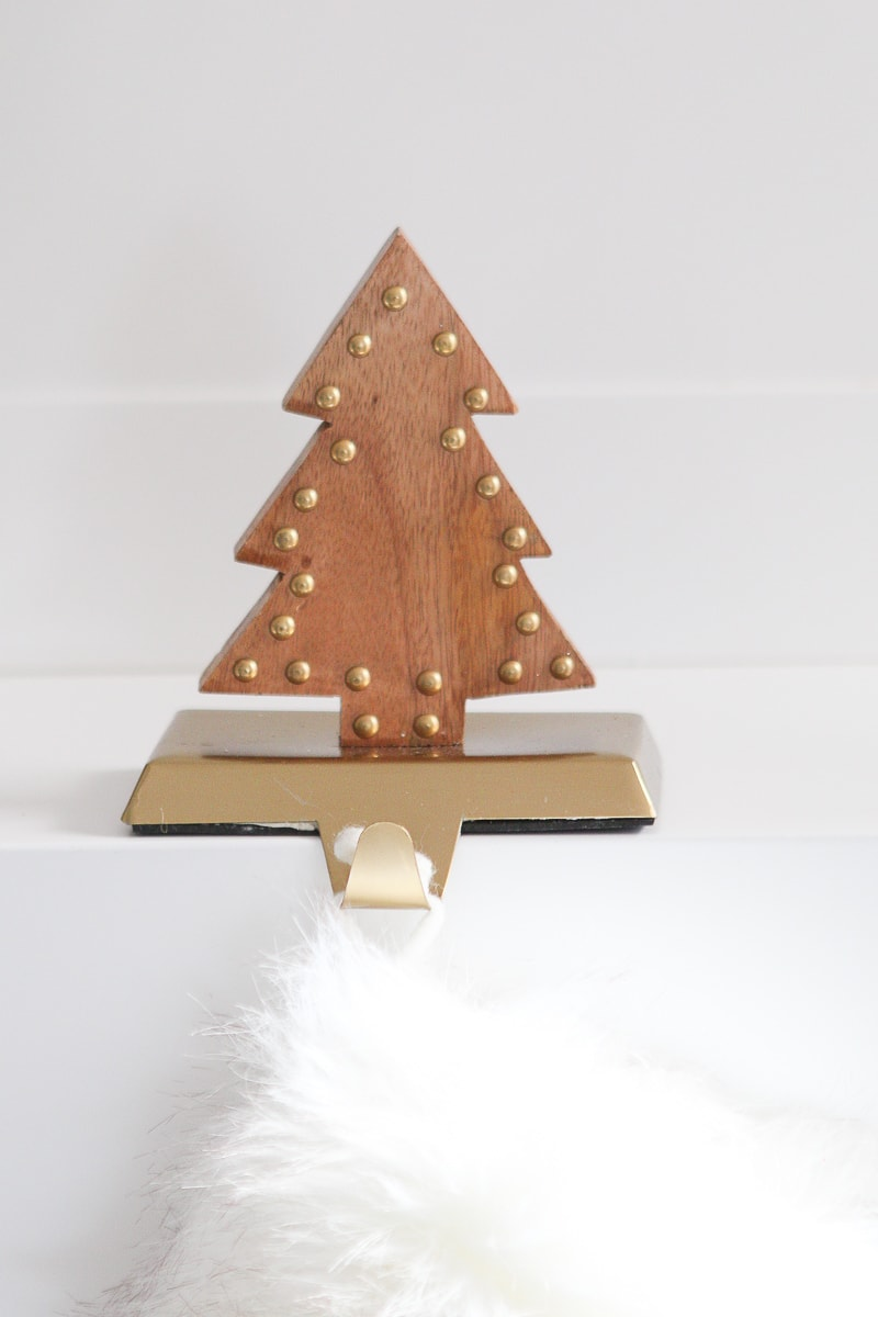Wood stocking holder from Marshalls