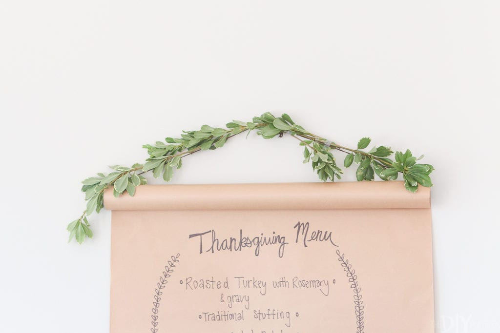 How to make a menu board for Thanksgiving dinner