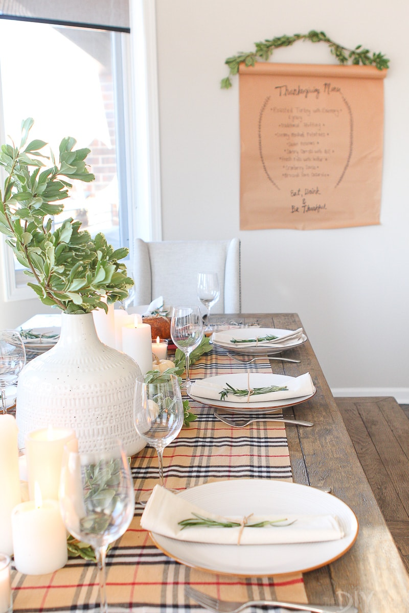 Tips for a simple Thanksgiving Tablescape