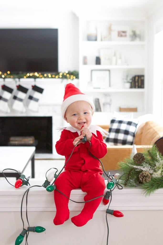 elf on the shelf baby photos