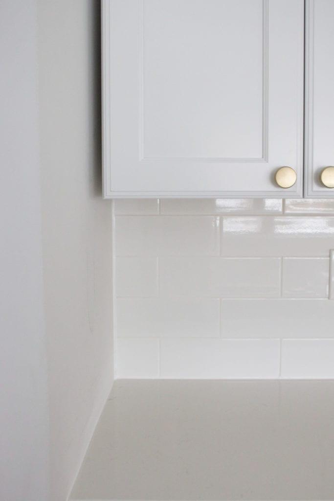 caulking a tile seam