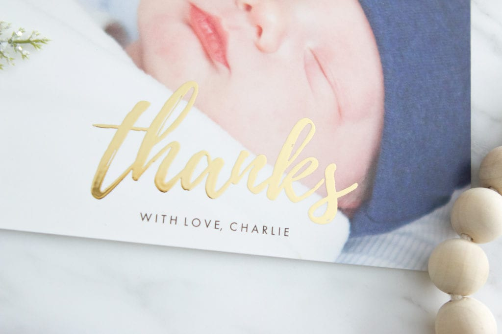 thank you cards newborn