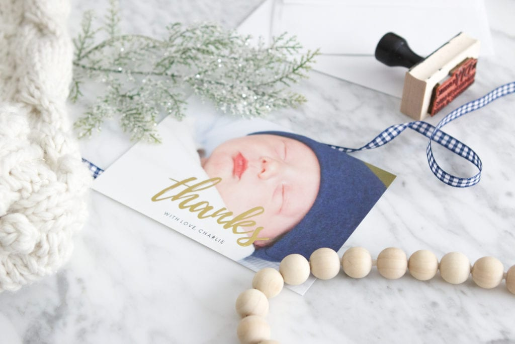new mom thank you cards by snapfish