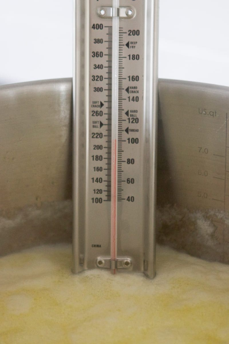using a candy thermometer