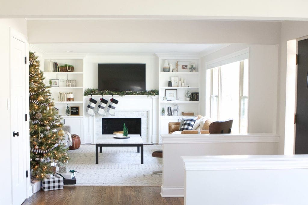 christmas holiday home tour with simple touches